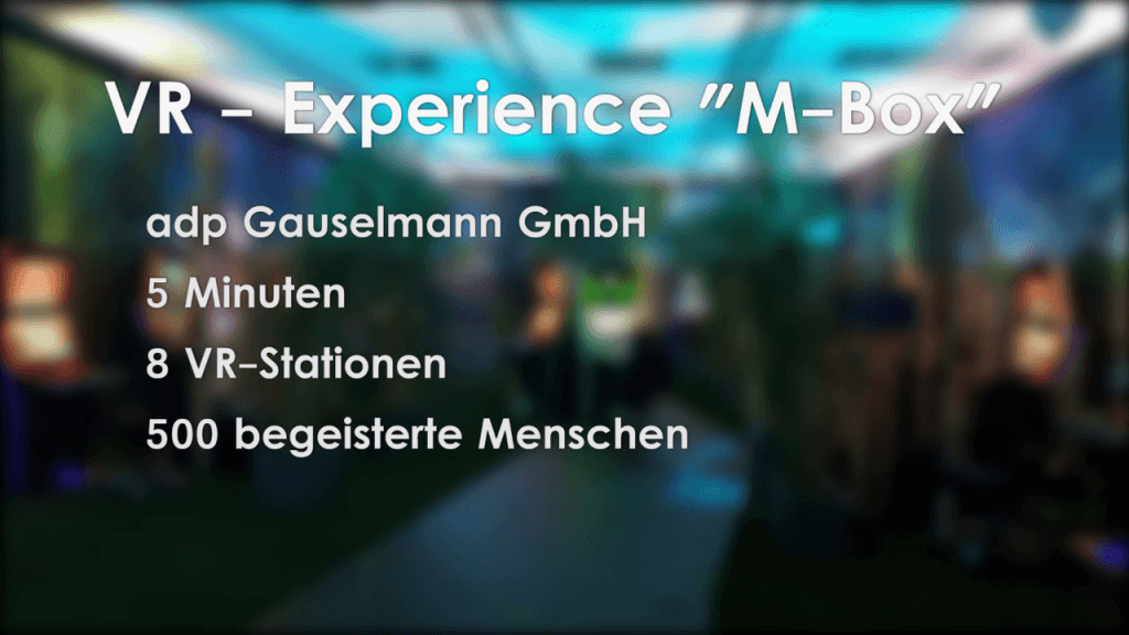 Virtual Reality Programmierung von Cykyria Experience M-BOX
