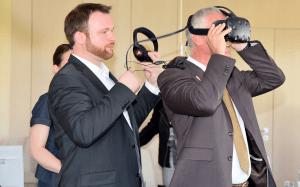 Pressekonferenz JOBAKTIV_Georg Thoma meets Cykyria - Virtual Reality_Fotograf Jürgen Wilke