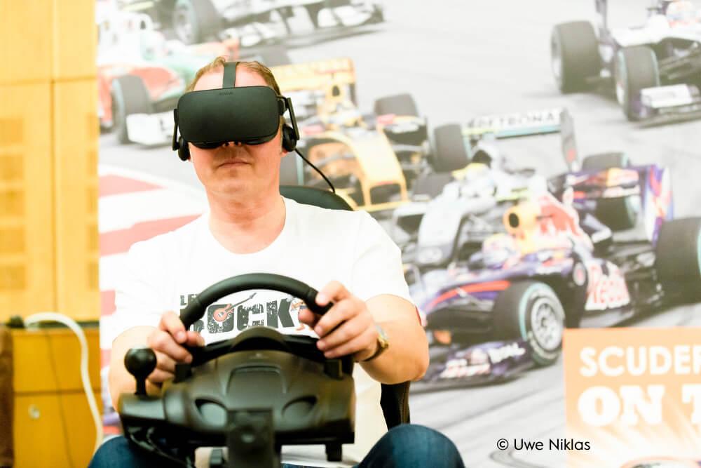 Cykria Branded VR Racing auf Firmenfeier