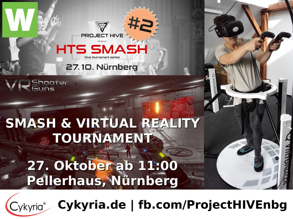 Virtual Reality powered by Cykyria bei HIVE Nürnberg HTS SMASH im Pellerhaus